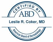 Dr. Leslie R. Coker, MD ABD Certification