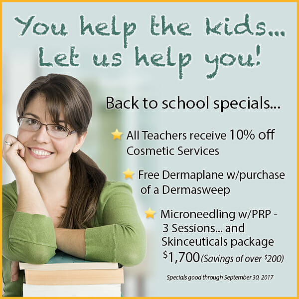 Back to School Specials for September