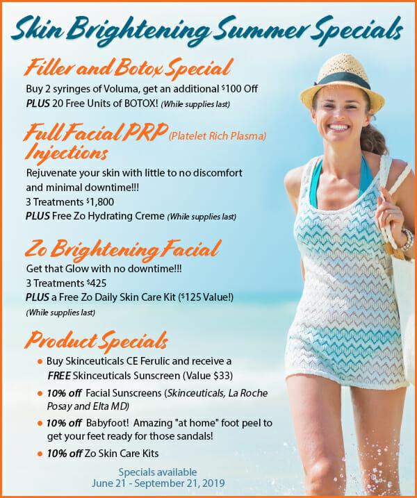 Skin Brightening Summer Specials
