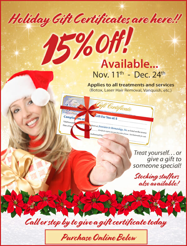 Purchase Holiday Gift Certificates